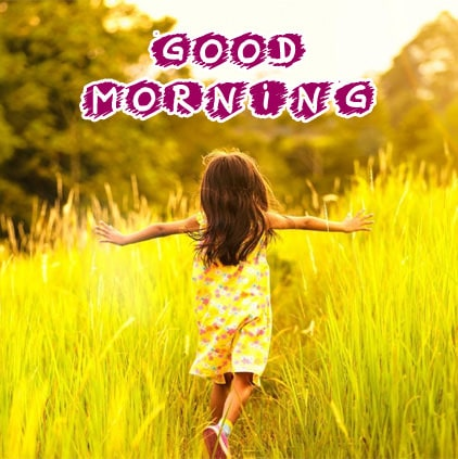 1493 Good Morning With Cute Baby Doll Girl Facebook Whatsapp Status