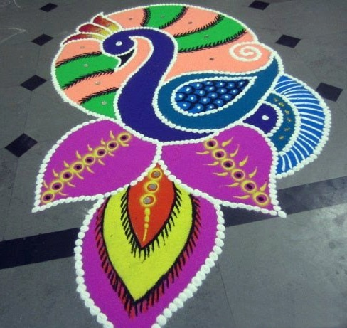 Happy New Year Best Rangoli 100