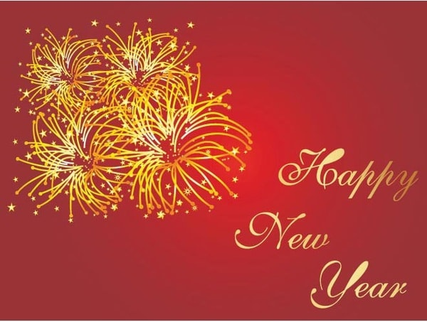 4027 happy new year and chirstmas red background vector facebook whatsapp status new year wishes